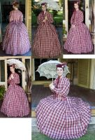 Late 1860s dress by Kathelyne