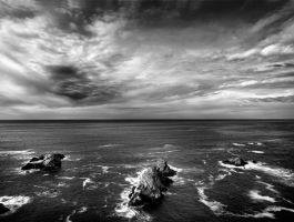 rocks and sea by VaggelisFragiadakis