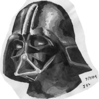 Darth Vader in Ink by Not-Think