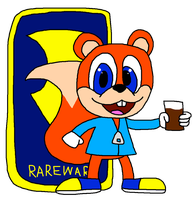 Conker with chocolate milk by LMF100