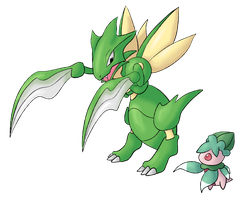 Scyther and Fomantis