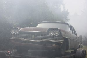 '59 Plymouth on a trailer by finhead4ever