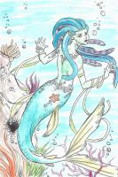 the mermaid _colored_ by SaRa91bs