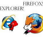 firefox and Explorer fight by rougeknuckles