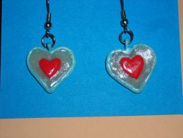 Piece of Heart Earrings by DarthJader11