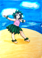 Christine As A Child - Hula Lessons by inu-nutfan