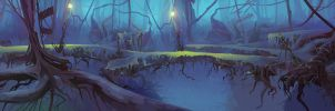 Mysterious Forest Animation BG by ScottPellico