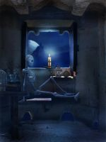 Tower Room - Premade Background by la-voisin