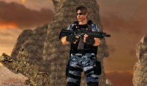 Navy Soldier Leon Kennedy (Re-Updated XPS) by bstylez