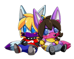 COMM: Plushie David and Ingy by Snowify