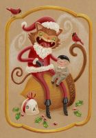 Santa Cat by grelin-machin