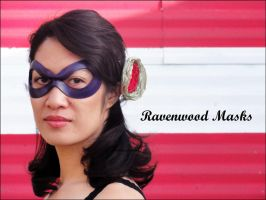 Leather mask - Indiscreet by Alyssa-Ravenwood