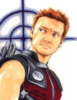 Hawkeye sketch by Rider4Z