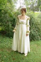 White Renaissance dress by alrach