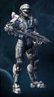 Halo 4 OC: Mark Hazer by purpledragon104