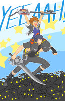 KH3 x FFXV - SURFS UP DUDES by rasenth