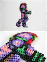 Super Metroid Samus gravity suit bead sprite magne by 8bitcraft