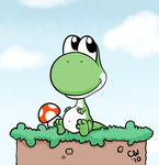 Baby Yoshi - Digital by TheCatlady