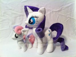 Rarity and Sweetie Belle by PlanetPlush