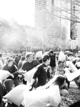 sydney pillow fight by Monk3Girl