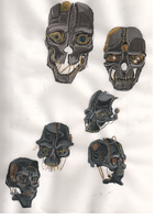 Dishonored helmet concepts. by smallblackbook