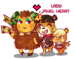 ACNL Villager Group Commission for JD2K by ladypixelheart