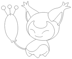 skitty lineart 2 by michy123