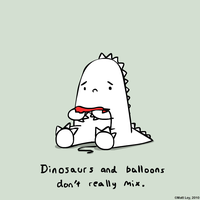 Dinosaur Facts - Balloons by DeathByStraws