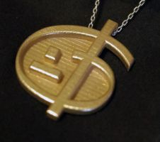 Zoran's Equation pendant - Gold Plated by Vidal-Design