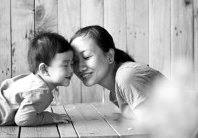 Mom and son by linkhoangplus