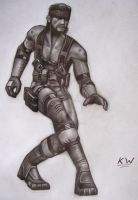 Solid Snake Pencil Drawing by Spectrum-VII