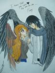 Maximum Ride and Fang by forgottenlegend