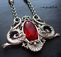 Ruby Serpent Crest by JewelledTrellis