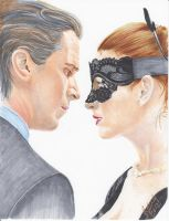 Bruce Wayne and Selina Kyle (2012) by 0niVIRexe