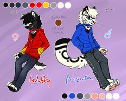 Furry Wuffy and Aisuru Ref 2012 by BakaPup