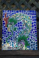 dragon mosaic by Vrexie