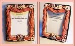 Polymer clay picture frame by Gimmeswords