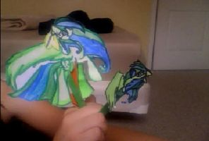 Sprite Paper Puppet by StarShineTheAlicorn