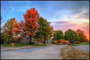 Autumn Suburbia by FramedByNature