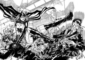 Batgirl, Steph Brown (2012) Inks by SteveAndrew