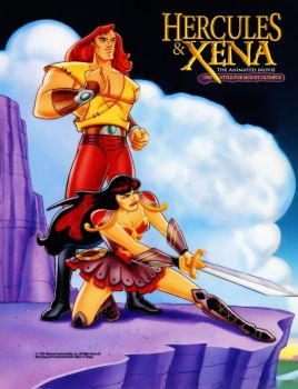 Hercules and Xena Battle For Mount Olympus by XENA-96