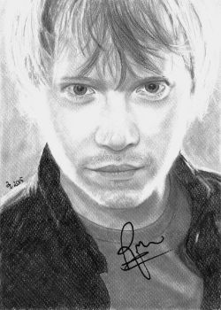 Rupert Grint (autographed!) by synystia