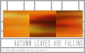 Autumn Leaves Are Falling by plumerri