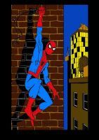 frankdawsonjr's Spider-Man art coloured (request) by stick-man-11