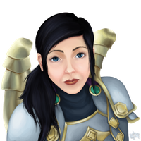 01 wow commission | human priest by pur1n