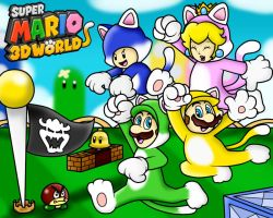 Super Mario 3D World Wallpaper by SuperLakitu