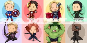 Avengers Stickers by Alasse-Tasartir