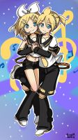 Rin and Len by AlineSM