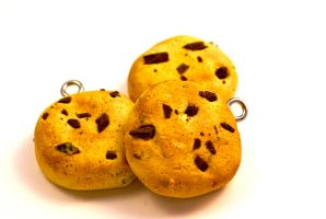 Polymer Clay Cookie Charm by TooGoodToEat