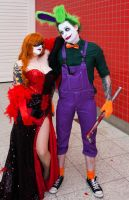 London Super Comicon 2015 84 - Harley and Joker by cosmicnut